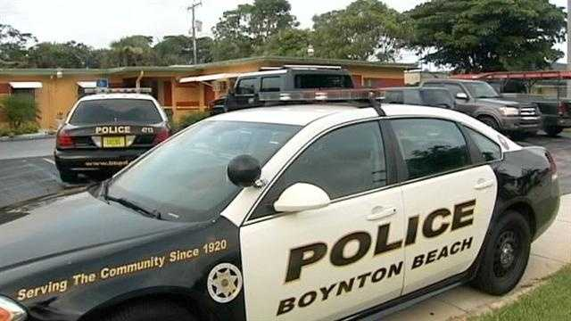 A man was in critical condition after he was shot at a motel room in Boynton Beach early Tuesday morning.