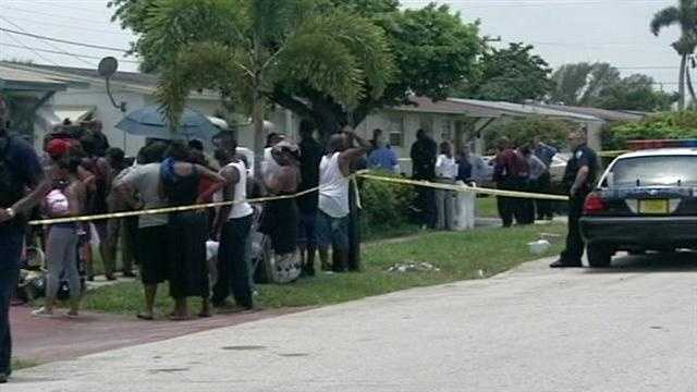 Police had to call in extra officers for crowd control after a man was shot to death in West Palm Beach.