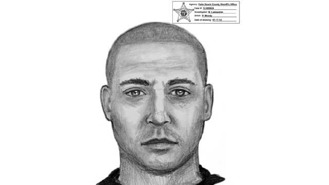 This is a sketch of a man wanted in a home-invasion robbery at the Gateway Club apartments.