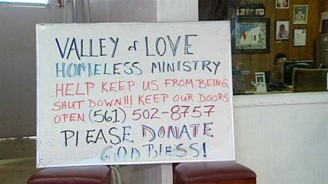 A homeless shelter is on the brink of shutting down as donations have dried up.