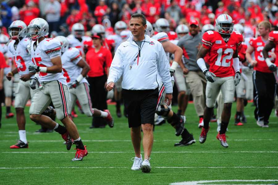 Urban Meyer is perhaps best known for winning national championships as head coach of the Florida Gators. Meyer now aims to leave his mark on Ohio State's storied football program. (Photo:Ohio State Athletics)