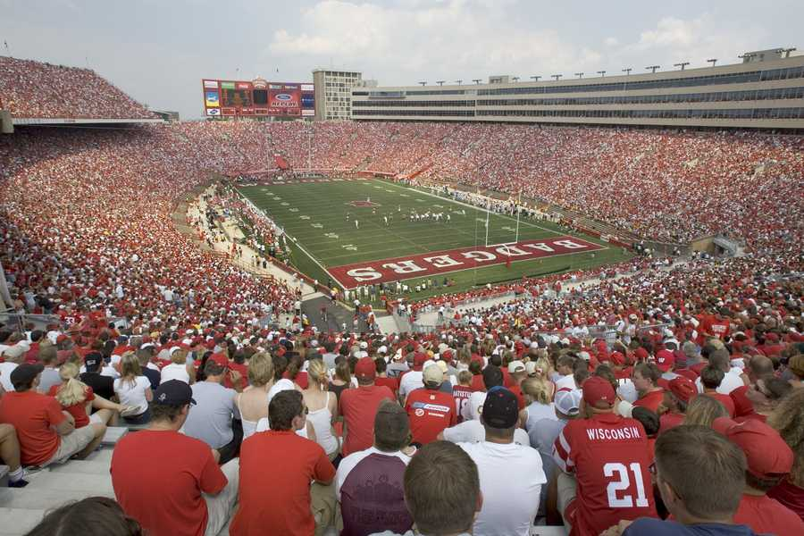 """Wisconsin's Camp Randall Stadium is the oldest stadium in the Big Ten Conference. While it doesn't have as many seats as Michigan's """"Big House"""" or Penn State's Beaver Stadium, Camp Randall is still one of the loudest and most intimidating places to play for opposing teams.(Photo: University of Wisconsin Athletics)"""