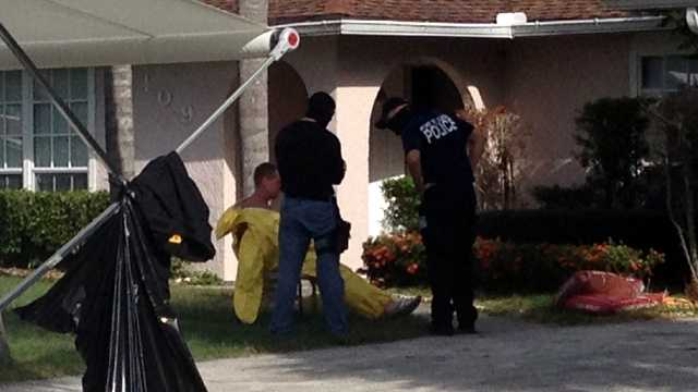 Authorities raided a suspected meth lab in Port St. Lucie early Thursday morning. (Photo: Greg Duncan/WPBF)