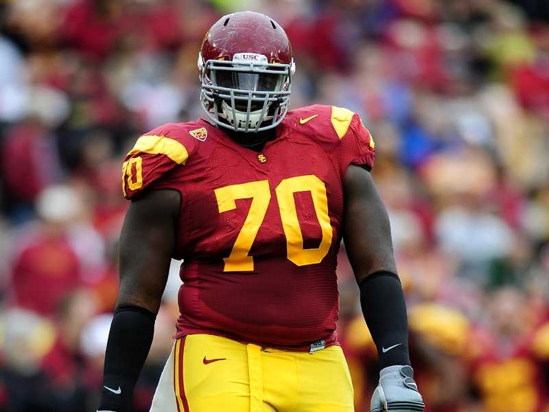 Aundrey Walker will be tasked with replacing USC offensive tackle Matt Kalil, who was selected fourth overall in the NFL Draft. (Photo: USC)