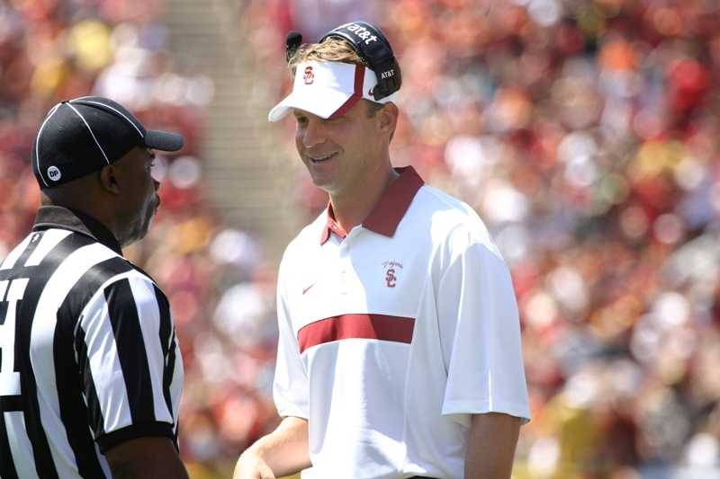 Lane Kiffin enters his third season at USC with high expectations now that the Trojans can once again compete for a championship after their two-year NCAA bowl ban. (Photo: USC)