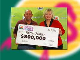 Pierre Delago of Fort Myers won $800,000.