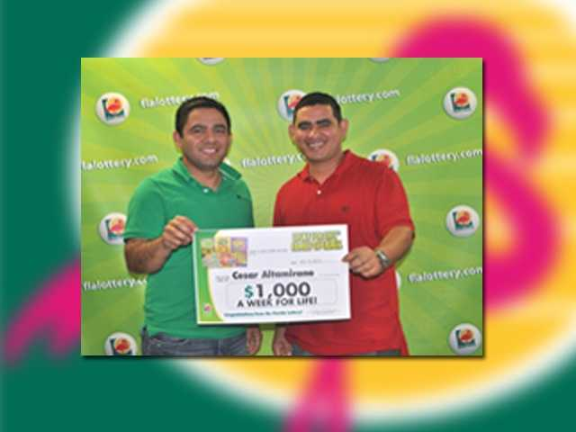 Vincenzo DiTommaso of Miami won $1,000 per week for life.