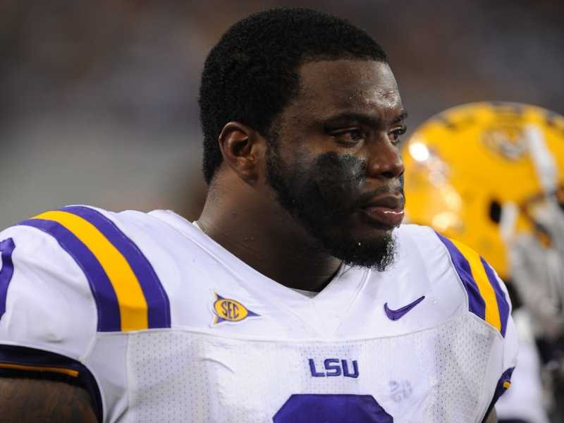 LSU sophomore defensive tackle Ego Ferguson doesn't let his name -- literally -- get in the way of his performance on the field. (Photo: LSU Sports Information)
