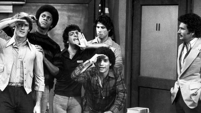 "Ron Palillo (middle), best known as Arnold Horshack on the 1970s hit comedy ""Welcome Back, Kotter,"" died at his Palm Beach Gardens home Tuesday."