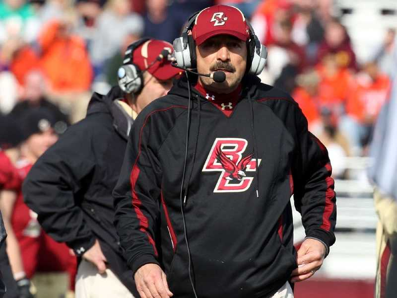 Frank Spaziani will be counted upon to lead Boston College back to a bowl game in his fourth year at the helm after stumbling to a 4-8 record last season. The Eagles suffered through their first losing season since 1998. (Photo: BC Media Relations)