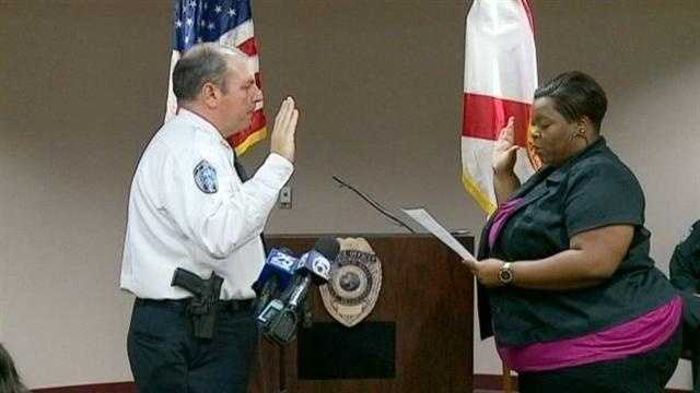 Vince Demasi is sworn in as West Palm Beach police chief during a Friday morning ceremony.