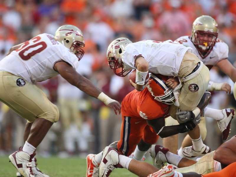 Florida State gave up an uncharacteristic 455 yards to Clemson in a 35-30 loss a year ago. That was without starting quarterback E.J. Manuel, who was injured. In his place was backup Clint Trickett, who had a season-high 38 pass attempts because of his team's inability to carry the football. The Seminoles only managed 29 yards on the ground. The Tigers are 1-9 in Tallahassee since 1992. (Photo: Clemson SID)