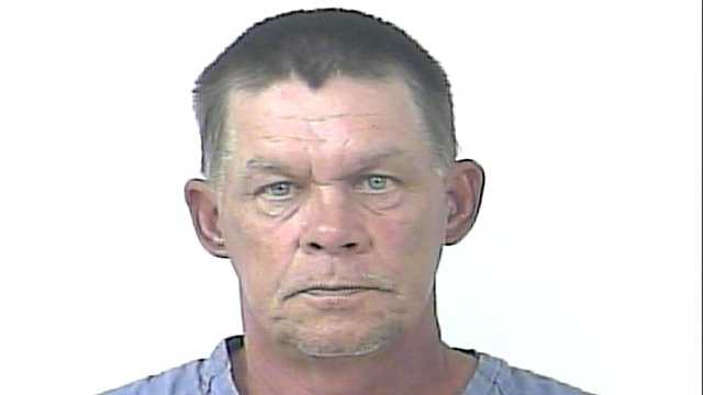 Police say Randy Chambers spit on clean dishes at the Golden Corral in Fort Pierce after finding a hair in his food.