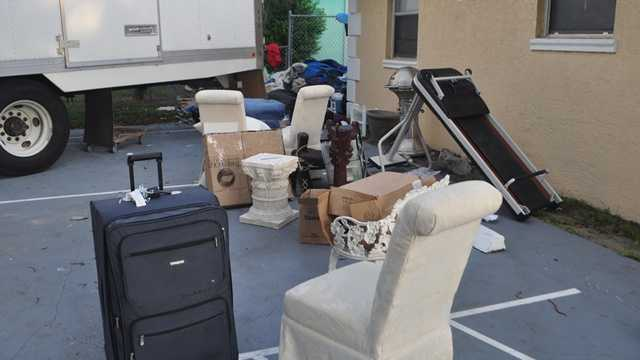 The woman who owns this furniture was surprised to learn it never made it past West Palm Beach.