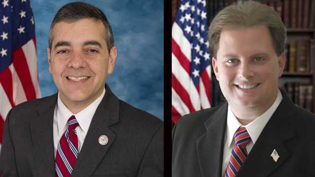 The FBI is investigating whether U.S. Rep. David Rivera, R-Fla. (left), funneled money to Justin Lamar Sternad's failed congressional primary campaign.