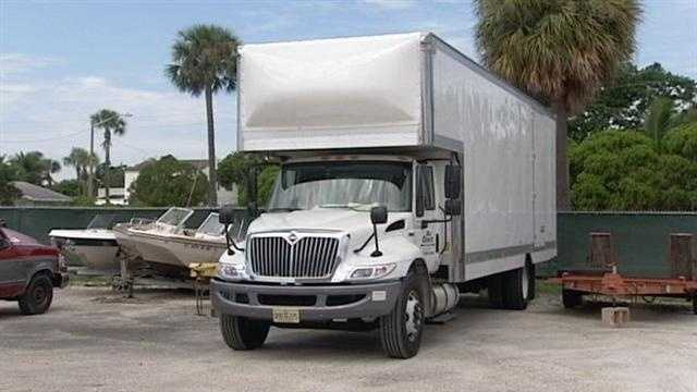 A man hired to drive a woman s furniture from her Coral Springs home to Oklahoma City told police he was beaten up and had his truck stolen, but the owner whose furniture wound in WPB isn t buying it.