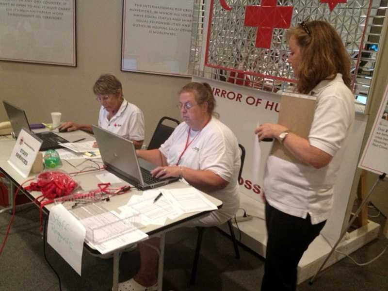 Ted White is keeping an eye on the goings-on at the Red Cross.