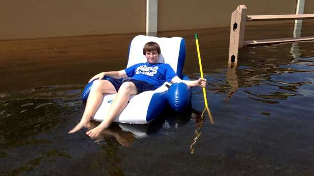 John Campagnuolo spent some post-flood time floating on Big Blue Trace. (Photo: Cathleen O'Toole/WPBF)