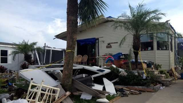 A Vero Beach resident won her neighborhood's home of the month contest before Isaac swept through, and now she'll need a lot more than the $50 prize to put the pieces back together. (Photo: WPBF/Cathleen O'Toole)