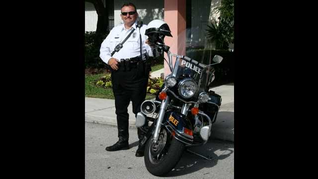 Jupiter Police Officer Bruce St. Laurent was killed while on motorcycle patrol in President Obama's motorcade on Sept. 9.