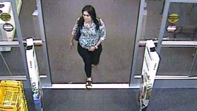 Police say this woman is believed to be part of a larger group of females committing distraction thefts from Delray Beach to Melbourne.