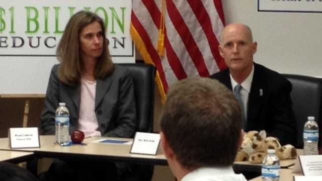 Gov. Rick Scott visited Boca Raton High School on Tuesday afternoon. (Photo: Angela Rozier/WPBF)