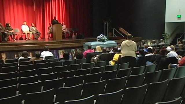 "Few teens showed up Tuesday night at a ""Save Our Children"" town hall event aimed at getting young people to put down the guns."