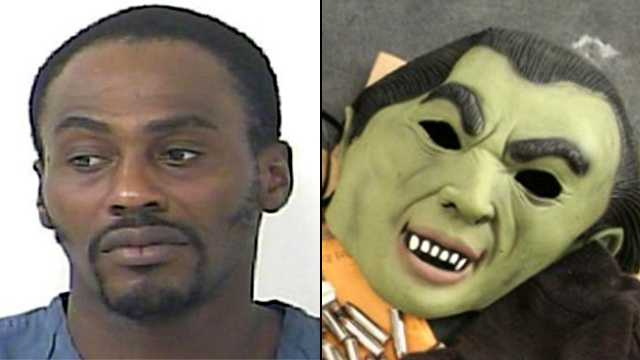 In addition to weapons, police in Port St. Lucie said they found this vampire mask in Robert Williamson's vehicle.
