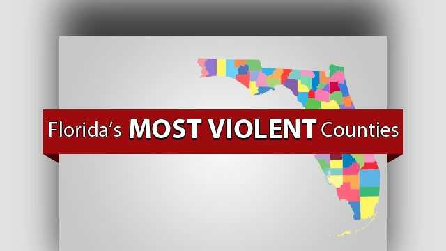Take a look at which Florida counties are the most violent in the state. (Counties ranked based on number of 2013 reports of murder, sexual assault, robbery and aggravated assault as a percentage of total population, according to data from the Florida Department of Law Enforcement)