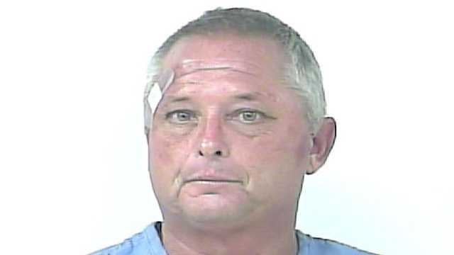 Mark Cross was arrested after police say he cut a hole in the garden center fence at Lowes and then sawed the lock off the gate at Home Depot in Port St. Lucie.