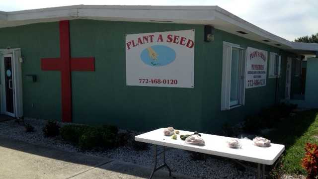 The Plant A Seed ministry is missing food, drinks and a large freezer thanks to a burglary early Tuesday morning. (Photo: Ted White/WPBF)