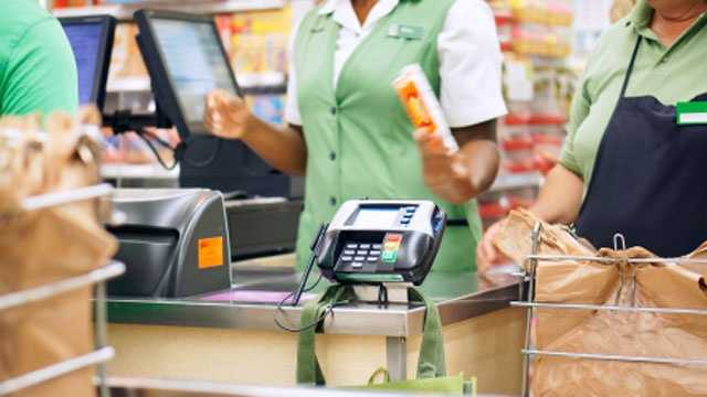 Cashier, grocery store checkout