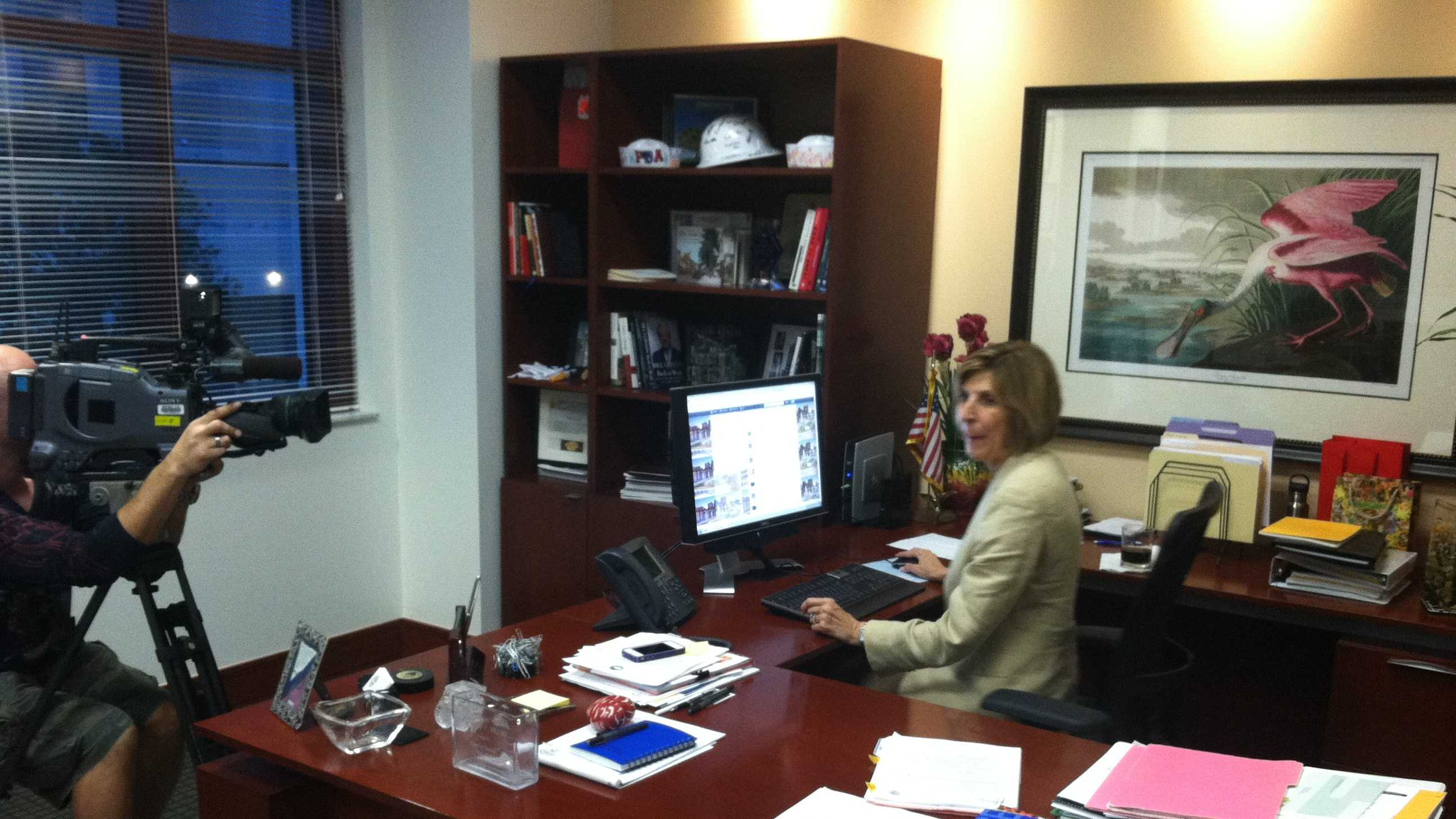 Mayor Jeri Muoio chalked Monday's Twitter town hall up as a success. (Photo: Erin Guy/WPBF)
