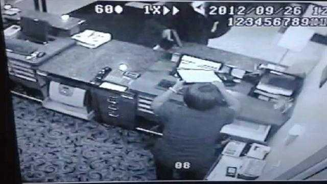 A gunman robs the Holiday Inn Express in Stuart early Wednesday morning.