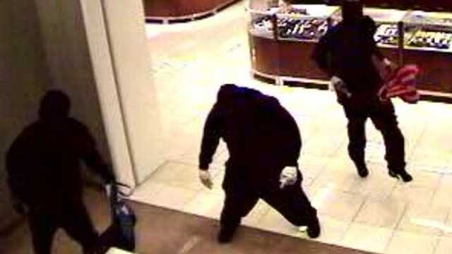 Three men armed with sledgehammers robbed the Saks Fifth Avenue at the Town Center at Boca Raton.