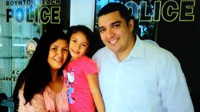 This family was reunited Thursday at the Boynton Beach police station, after police said a 4-year-old girl's father took her to Mexico instead of returning her to her mother after a weekend visit in December.