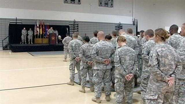 Local troops left for Afghanistan today.