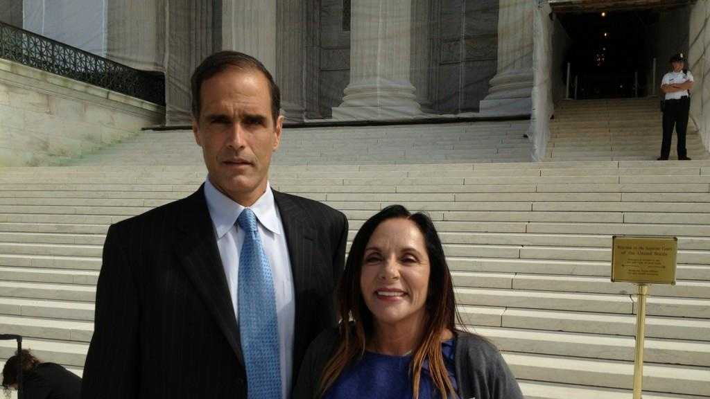 Fane Lozman in Washington D.C. while his case goes in front of the United States Supreme Court.