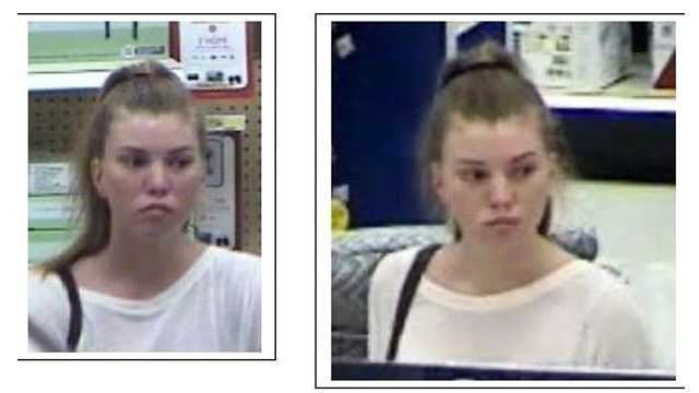 Police say this woman has been stealing video game controllers from Boynton Beach stores.