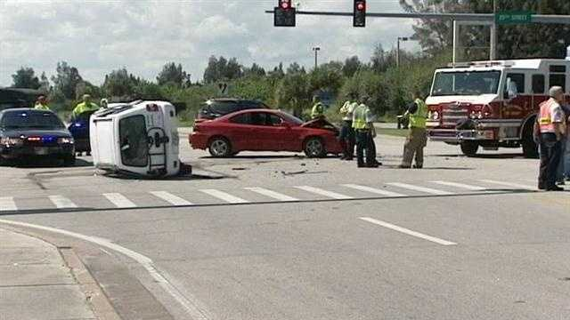 St. Lucie County 3-vehicle collision