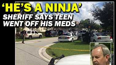 Palm Beach County Sheriff Ric Bradshaw said the teen shot dead by one of his deputies went off his medications and became violent. (Photos: Kaan Pala/WPBF)