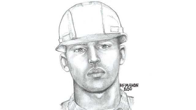 Detectives have released this sketch of a man who posed as a utility worker and stole jewelry from an elderly couple.