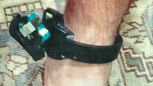This is John Goodman's ankle bracelet that he tried to cut off.