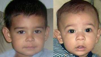 Jacob and Jiulianny Estevez, ages now 6 and 4: Missing from Tampa. The boys may be in the company of their mother. They may travel to Nicaragua.