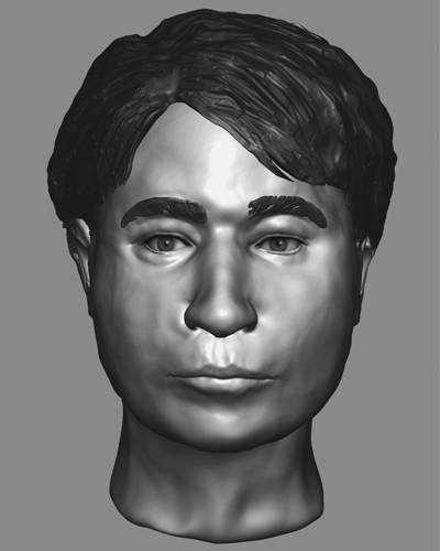 """John Doe, between 12 and 16: On March 14, 2009, the partial skeletal remains of an unidentified male were found under thick brush located on South Surano Road in Wimauma, Hillsborough County, Florida. The decedent was likely between 12 and 16 years of age at the time of his death and estimated to have been deceased less than five years. An anthropological assessment revealed that the decedent was of Guatemalan or Hispanic/Mexican-American ancestry and may have been involved in heavy labor or agricultural work in life. He was wearing jeans with """"ICE POLE USA"""" stitched on the leg and was carrying a wallet with a chain attached and the word """"CHOPPER"""" embroidered on the leather. The image at left is a composite created by a forensic artist at the National Center for Missing & Exploited Children, to show what the decedent may have looked like in life. Some items, such as hair style, are the artist's estimation to complete the image and should not be used as significant markers for identification."""