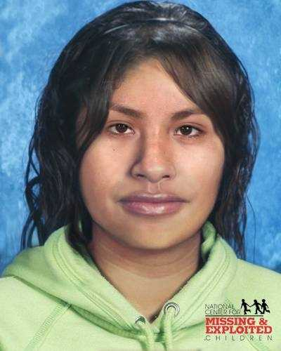 Maria Flores Rubio, age now 19: Missing from Dover. Maria's photo is shown age progressed to 16 years. She was last seen on December 8, 2007.