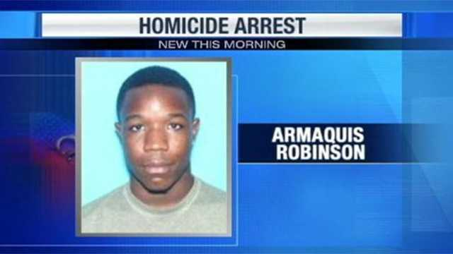 Armaquis Robinson is the third person arrested in connection with the shooting death