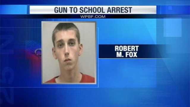Robert Fox is accused of taking a gun to Jensen Beach High School.