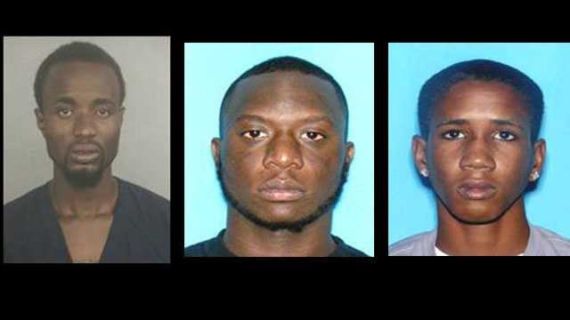 Frantz Altidor, Keavin Kelly and Nicholas Lewis are accused of burglarizing a Singer Island home and fleeing from police.