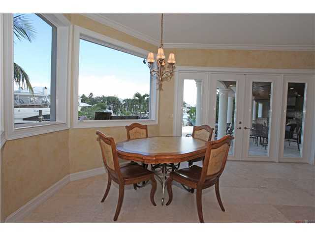 Enjoy a meal while over looking the water from your bay windows
